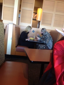Its always sad when you see someone eating alone