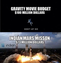 Its funny how a space mission is cheaper than a movie
