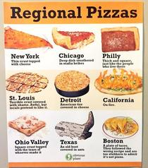 Its funny how pizzas very from region to region in the US