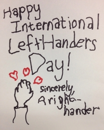 Its International Left-Handers Day so I made a card