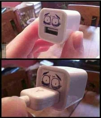 Its more disturbing when the USB is plugged in
