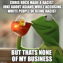 Its only racist if youre talking about black people