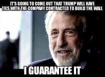 Its the only reason I can think of for him being so stubborn about the wall funding
