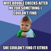 Its the small victories as a husband