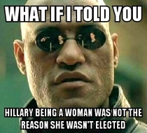 Ive been seeing a lot of posts on FB to the effect of What do I tell my crushed little girl and people being upset about losing the possibility of the first female president I really dont think that was the biggest reason
