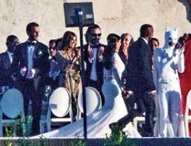 Jaden Smith wore a white batman costume to Kim and Kanyes wedding