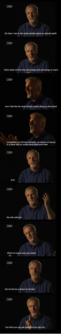 James Cameron is hilarious