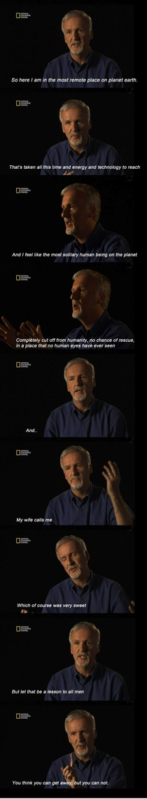 James Cameron with an important lesson for life