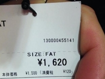 Japan doesnt fuck around when it comes to dress sizes