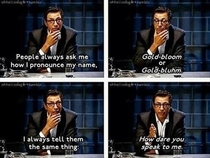 Jeff Goldblum on how to pronounce his name