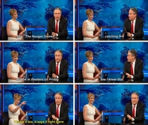 Jennifer Lawrence on auto-cues