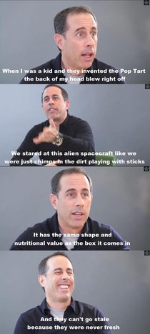 Jerry Seinfeld on Pop Tarts