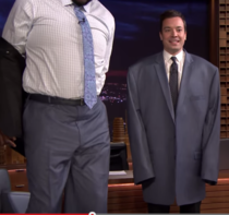 Jimmy Fallon Wearing Shaqs Suit Jacket