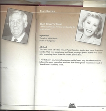 Joan Rivers was featured in a celebrity charity cookbook alongside my grandfather This is her recipe submission
