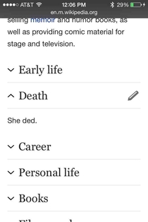 Joan Rivers Wikipedia Page Has Quite The Insight Into Her Death