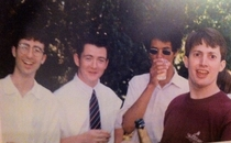 John Oliver in college with Richard Ayoade and David Mitchell Xpost from rCommunity