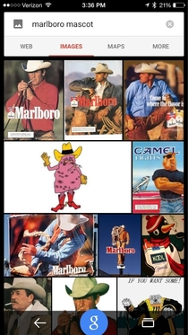 John Olivers Last Week Tonight campaign pushes diseased lung mascot to top of Google image search for Marlboro Mascot