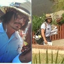 Johnny Depp the mailmanis actually just Eric