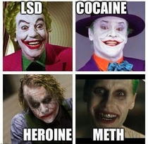 Jokers depiction informs us of each decades drug of choice