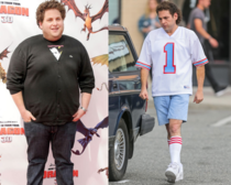 Jonah Hill went from a Heavyset Seth Rogen to a New York knock off Adam Sandler