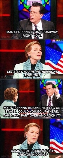 Julie Andrews is awesome