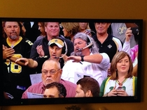 Just before the Packers- Saints start i spotted these two in the crowd