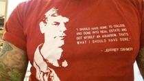 Just found my favourite old t-shirt with the most understated quote ever
