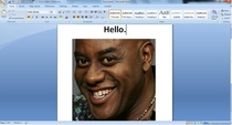 Just found out that my neighbor has a wireless printer and I printed this document on it