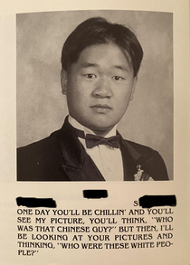 Just got called out while flipping through my  high school yearbook