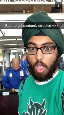 Just got this Snapchat from my Sikh friend