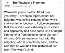 Just our local police blotter