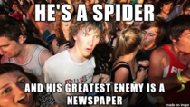 Just realized this about Spider-man How could I be so blind