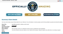 Just submitted my application to the Guinness Book of World Records Wish me luck