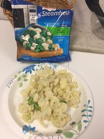 Just trying to enjoy my broccoli and cauliflower