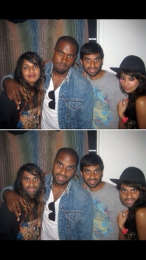 Kanyes face swap