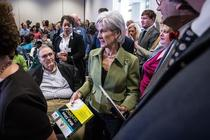 Kathleen Sebelius was given a complimentary book today