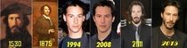 Keanu Reeves through the ages
