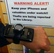 Keep your iPhones and valuables under watch