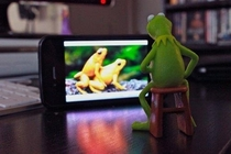 Kermits having a rough time with miss piggy not being around