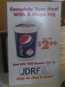 KFC fights type I diabetes by promoting type II diabetes