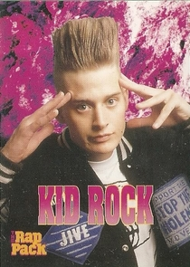 Kid Rock trading card from the s