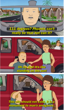 King Of The Hill nailed this weeks weather forecast