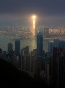 Kneel before the dark lord Sauron of Hong Kong