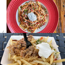 Knotts Berry Farm is holding their taste of Knotts event Carnitas fries as pictured on the website vs Reality