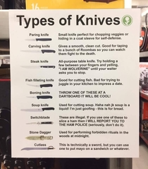 Know your knives people