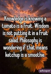 Knowledge Wisdom and Philosophy