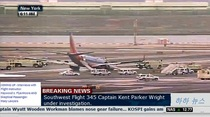 Korean news channel displays bogus American pilot names in regards to the Southwest plane crash at LaGuardia yesterday