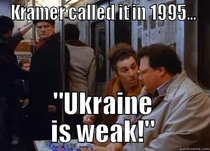 Kramer called it waaay before Palin or Romney D