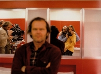 Kubrick sneaking a self shot while pretending to take one of Jack Nicholson