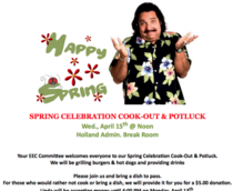 Lady in my HR department sent this announcement email this morning featuring clip art of a guy wearing a festive Hawaiian shirt